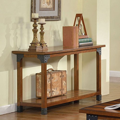 Bozeman Country Style Antique Oak Finish Sofa Table