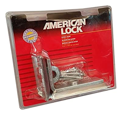 American Lock 850CC 90 Degree Angle Bar Steel Heavy Duty Security Hasp 4-1/4in