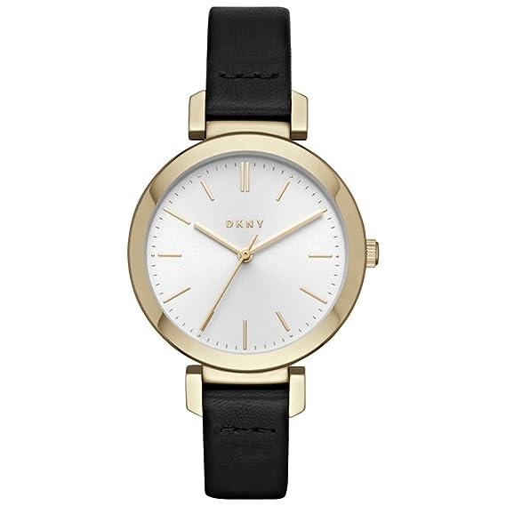 DKNY Reloj Analogico para Mujer de Cuarzo con Correa en Cuero NY2587: Amazon.es: Relojes