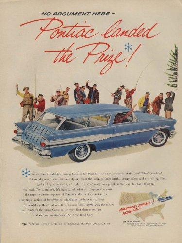 Safari Wagon - No argument here Pontiac landed the Prize! Safari Wagon ad 1957 L