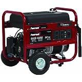Powermate PM0435005, 5000 Running Watts/6250 Starting Watts, Gas Powered Portable Generator