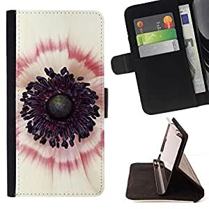 Momo Phone Case / Flip Funda de Cuero Case Cover - Dentro Blanco Rojo Flor Rosa - Sony Xperia Style T3