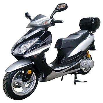 CRT 150 cc Gas ciclomotor scooter motocicleta adulto negro: Amazon.es: Deportes y aire libre