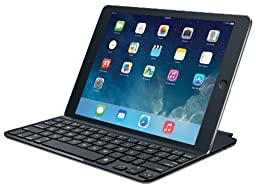 Logitech 920-005510 Ultrathin Magnetic Clip-on Keyboard Cover for iPad Air, Space Grey