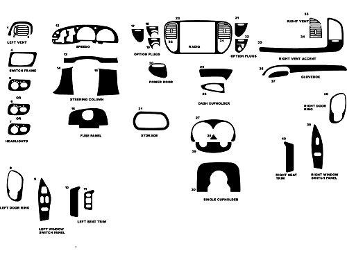 Rdash Dash Kit Decal Trim for Ford F-150 1997-1998 - Aluminum (Brushed Gunmetal) -