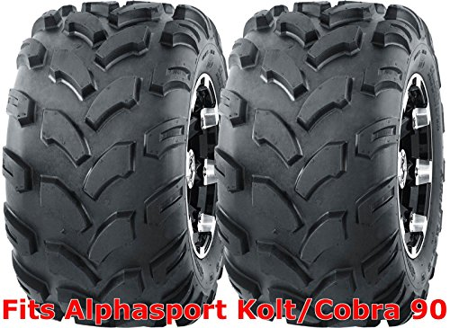 2 WANDA ATV tires 18x9.5-8 18x9.5x8 Alphasport Kolt/Cobra 90 rear P311 by Wanda