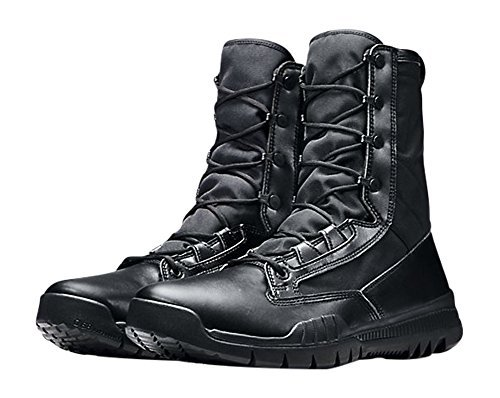 1371-090 Black Men's Tactical Police Leather Boots (12) ()