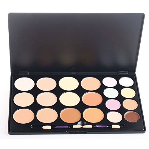 Pure Vie Professional 20 Colors Cream Concealer Camouflage Makeup Palette Contouring Kit - Ideal for Pro and Daily Use ()