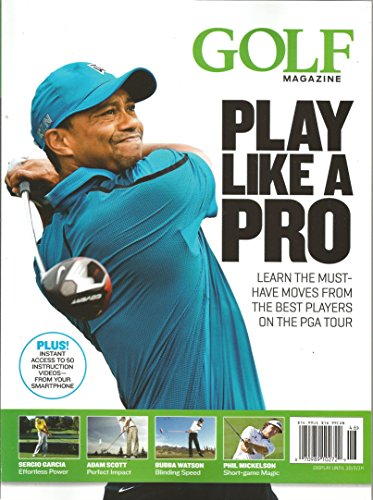 Golf Magazine Play Like a Pro (Tiger Woods Cover, 2014)