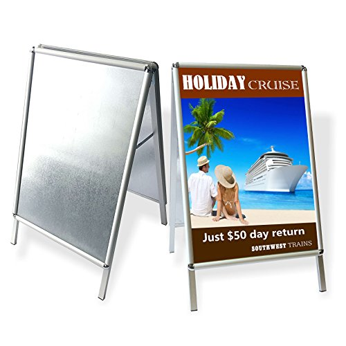MaxLit- Snap Edge Aluminum A-Frame Sign Holder- Holds 24 x 32 inches ...