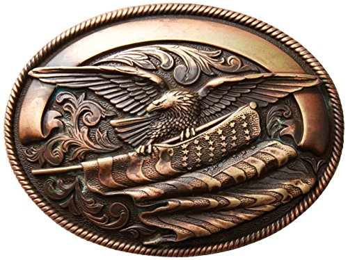 Nocona Men's Copper Eagle Flag Buckle, One Size