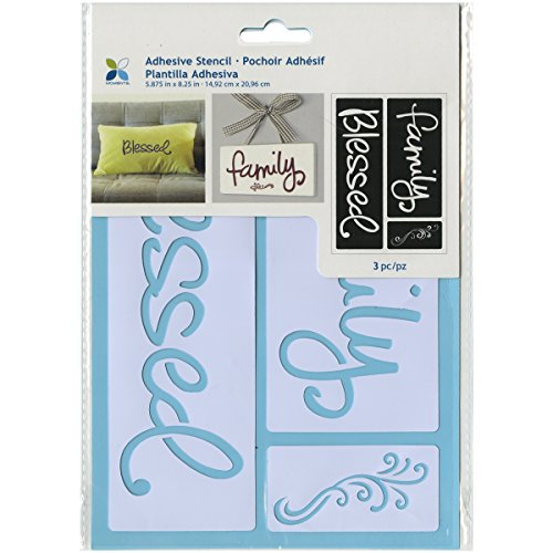 Momenta Adhesive Stencil  6  By 8   Blessed  St 252 25236