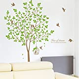 Bibigo Removable PVC Flowers Decals Decor Wall Stickers Live Love Home Butterfly Bedroom Living Room TV Sofa Background