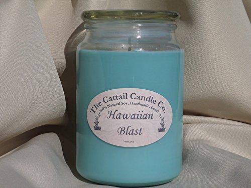 Candle Cattail (Hawaiian Blast - 100% Soy Candle, 24 fl oz)