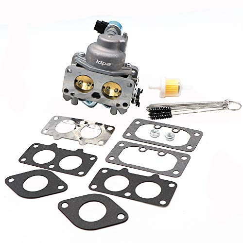 (KIPA Carburetor for Kawasaki FH721V Series Engines Mower Tractor, Replace OEM 15004-0757 15003-7094, 15004-1005,with Carbon Dirt Jet Cleaner Tool Kit Mounting)