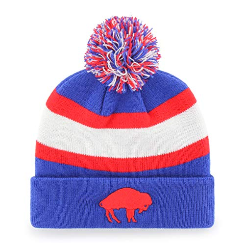 - OTS NFL Buffalo Bills Male Rush Down Legacy Cuff Knit Cap with Pom, Sonic Blue, One Size
