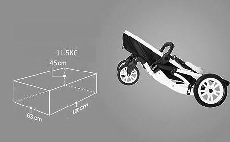 HJHY Carruajes de bebé, se puede sentar acostado paisaje alto sombrilla plegable luz del coche niño bebé carro infantil Transpirable, cómodo (Color : #1): ...