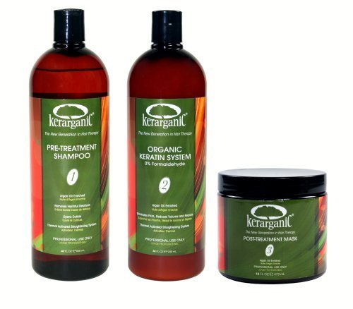 KERATIN TREATMENT SET - ORGANIC - FORMALDEHYDE FREE - 4-oz by KERARGANIC