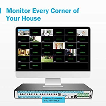 ANNKE 32-Channel HD-AHD 720P Digital Video Recorder, Real-Time High Resolution Surveillance DVR Recorder, P2P Technology, QR Code Scan Remote Access Security DVR Video Recorder, No Hard Drive Included