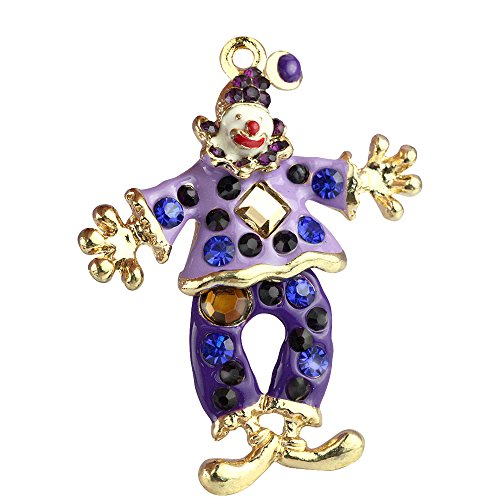 Style Crystal Clown Charms Pendants Wholesale (Set of 3) MH116 (Clown Crystal)