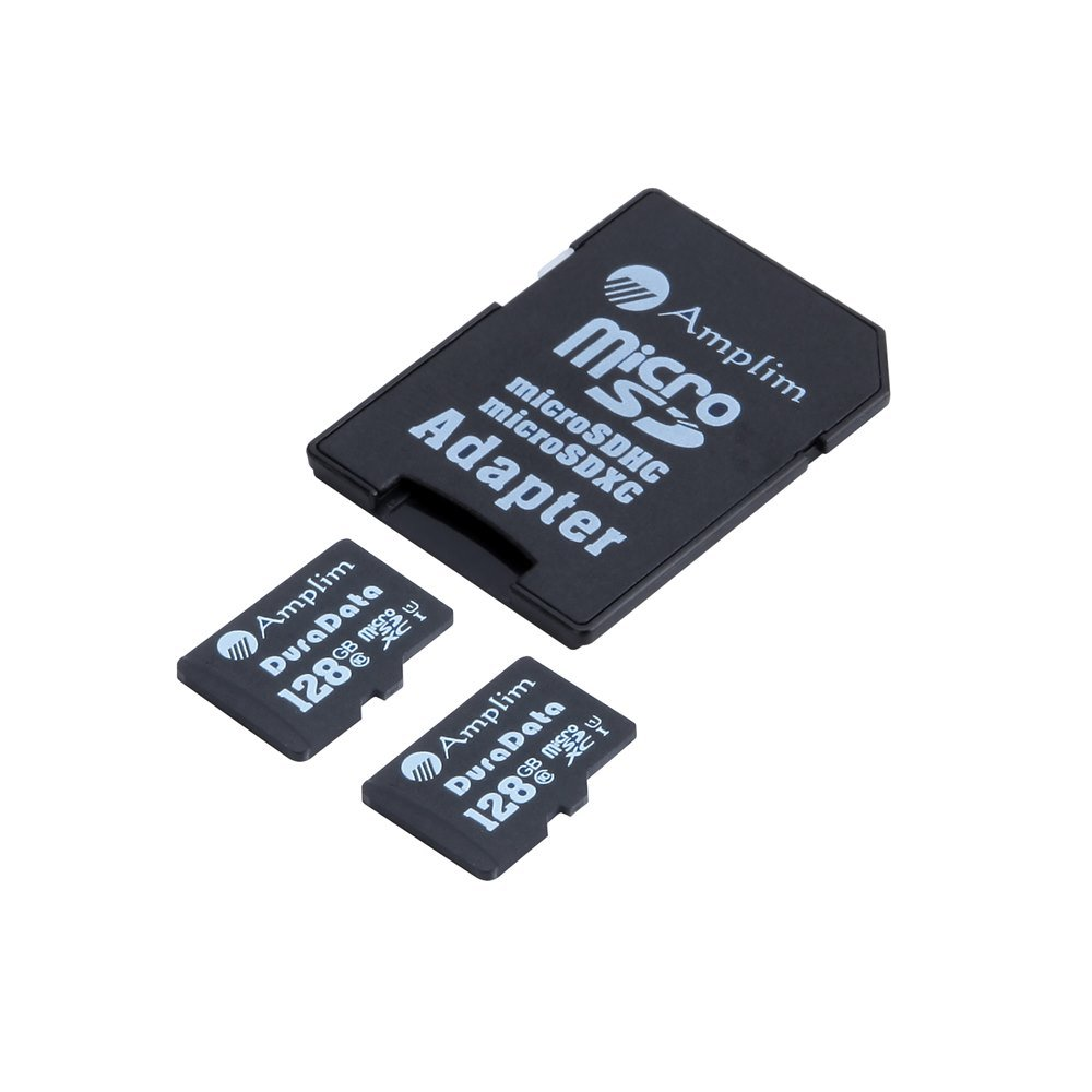 Amplim 2X 128GB Micro SD SDXC Memory Card Plus Adapter Pack (Class 10 UHS-I U1 MicroSD XC Extreme Pro) 128 GB Ultra High Speed 90MB/s 600X Read UHS-1 MicroSDXC Flash. Cell Phone Tablet Camera 128G TF by Amplim (Image #5)