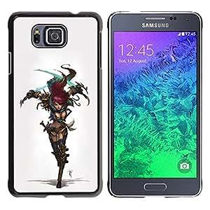 LECELL -- Funda protectora / Cubierta / Piel For Samsung GALAXY ALPHA G850 -- Cool Sexy Cosplay Warrior Girl Armor --