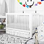 TILLYOU-Silky-Soft-Microfiber-Crib-Sheet-Set-Breathable-Cozy-Hypoallergenic-Toddler-Sheets-for-Boys-and-Girls-28-x-52in-Fits-Standard-Crib-Toddler-Mattress-2-Pack-White-Gray