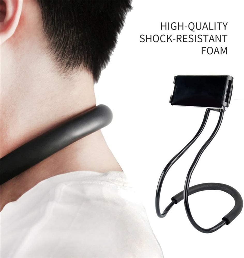 Cell Phone Stand Bedside Lazy Mobile Phone Bracket Creative Neck-Mounted Multi-Function Mobile Phone Holder Mobile Phone Clip Dormitory Multi-Function Mobile Phone Bracket DR