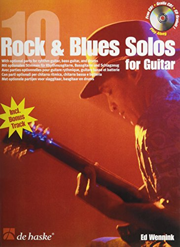 10 Rock & Blues Solos for Guitar: Book/CD Pack (De Haske Play-Along Book)