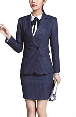 Suits & Sets Strong-Willed Formal Ladies Navy Blue Blazer Women Business Suits With Pant And Jacket Set Work Wear Office Uniform Design Styles Reputation First Pant Suits