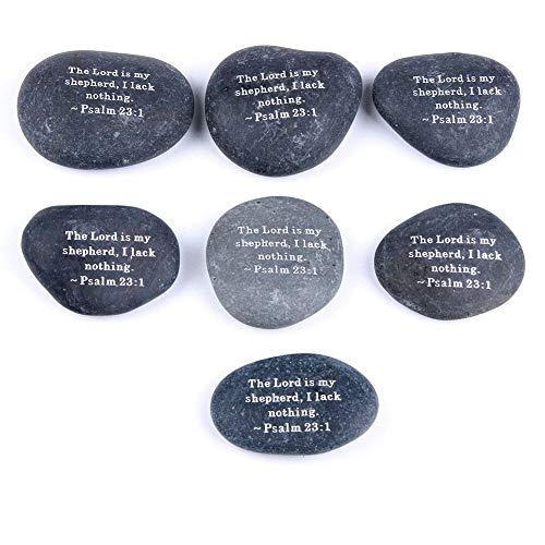 Fossil Stone - Natural River Stones Inspirational Words Carved White Lettering Home Garden Decoration Irregular - Sardonyx Feather Rock Sand Baby Wood Miniature Wear Aqua Hoop Fountain Women Be