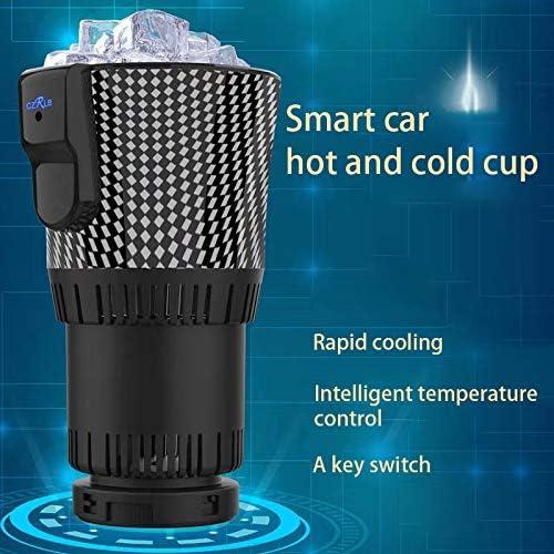 Cherrypop 2 en 1 Smart Car Cup Warmer y Cooler 12V3A Calentador de caf/é el/éctrico para enfriar bebidas y enfriar bebidas para coche viaje botella enfriador calentador de coche