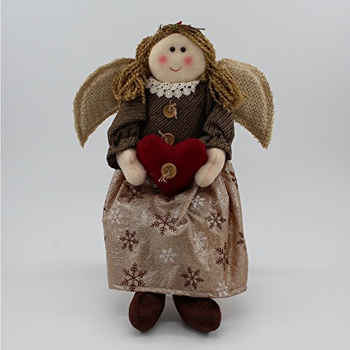 Angel Shelf Sitters - CG 47999 Angel Holding Heart Shelf Sitter Figurines, 18