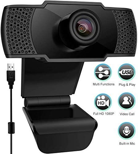 StillCool Webcam 1080P FHD PC Webcam con Microfono, videocamera PC Desktop USB 2.0 per videochiamate, Studio, conferenza, Registrazione, Gioco con Clip Girevole
