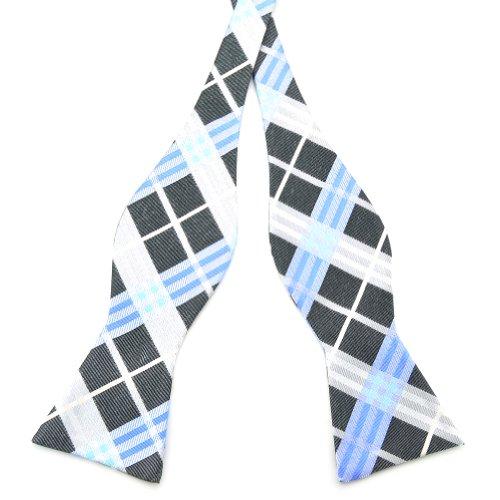 Pensee - Nœud papillon en soie tissée, motif jacquard à carreaux -  - Taille Unique