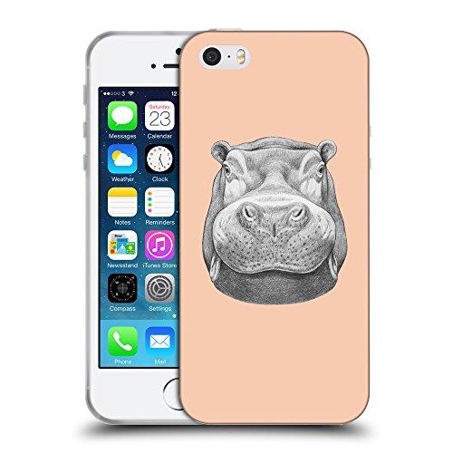 GoGoMobile Coque de Protection TPU Silicone Case pour // Q05270604 hippopotame 2 Abricot // Apple iPhone 5 5S 5G SE