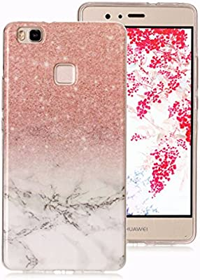 0daeafb7597 Funda Mármol para Huawei P9 Lite, Ronger Carcasa Gel TPU Silicona Marble  Case Cover Funda Ultra Fino Flexible con Patrón de Piedra para Funda Huawei  P9 Lite ...
