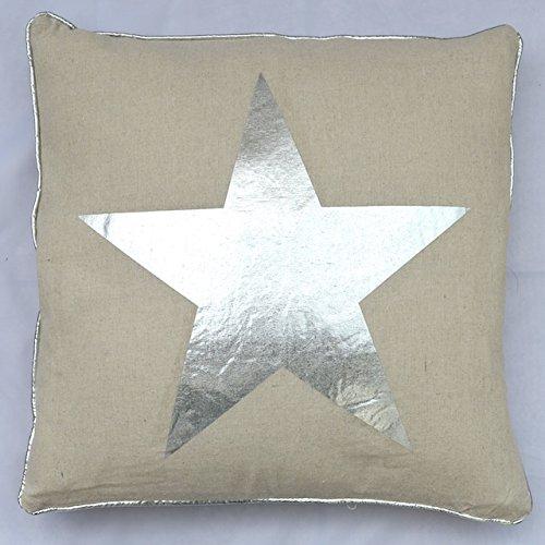 Cojín estrella plata/colour 40 x 40 cm relleno cojines del ...