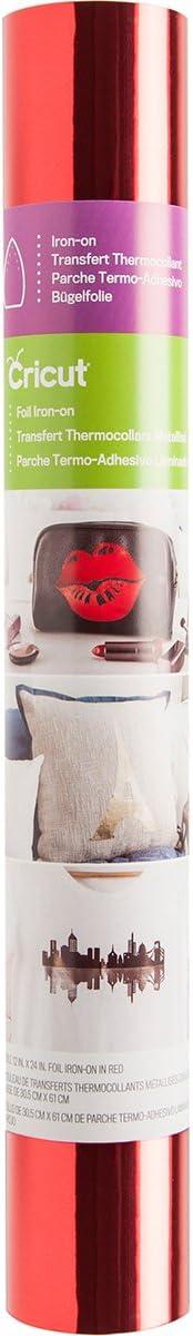 Cricut Foil Thermocollant 30,5 x 61 cm (Rouge), 30,5 x 61 cm