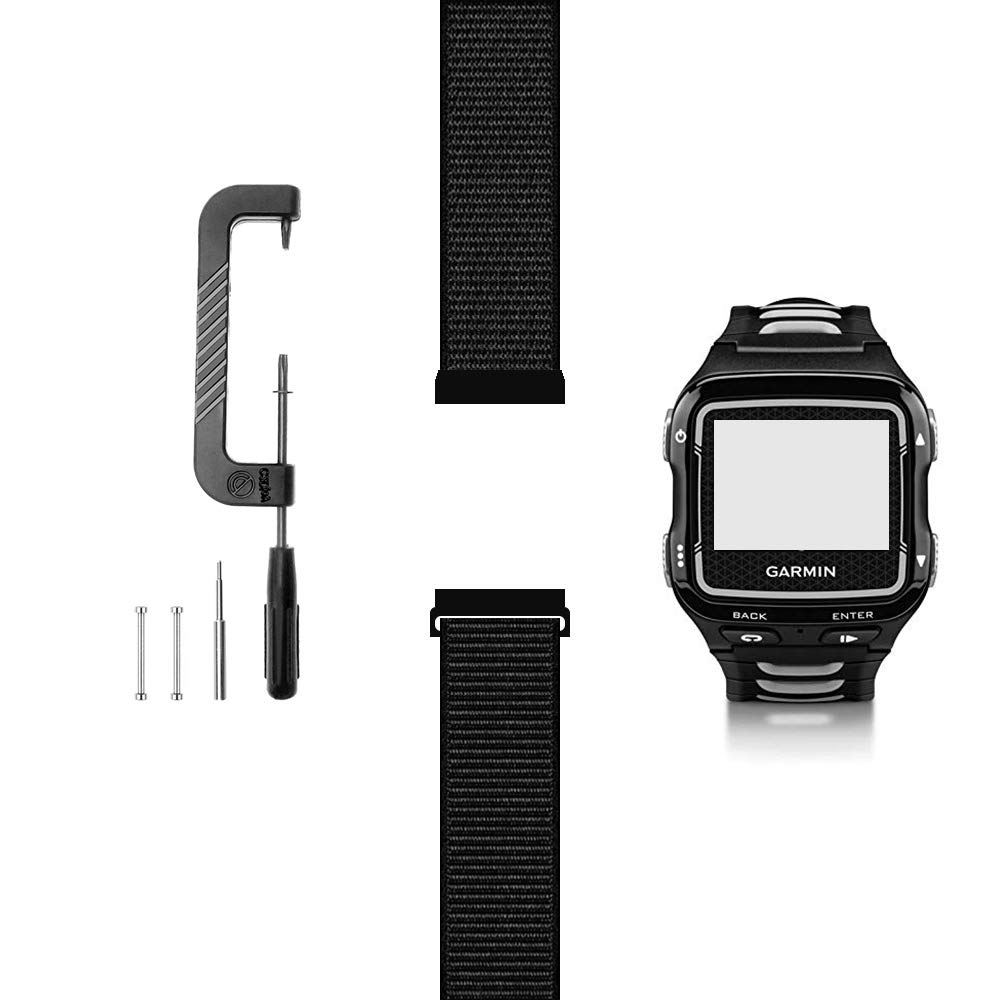 C2D JOY Only Compatible with Garmin Forerunner 920XT Replacement Band with Pins and Custom Pin Removal Tool, Sport Mesh Strap for Sports & Outdoor Nylon Weave Watchband - 10#, L / 6.7-9.5 in.