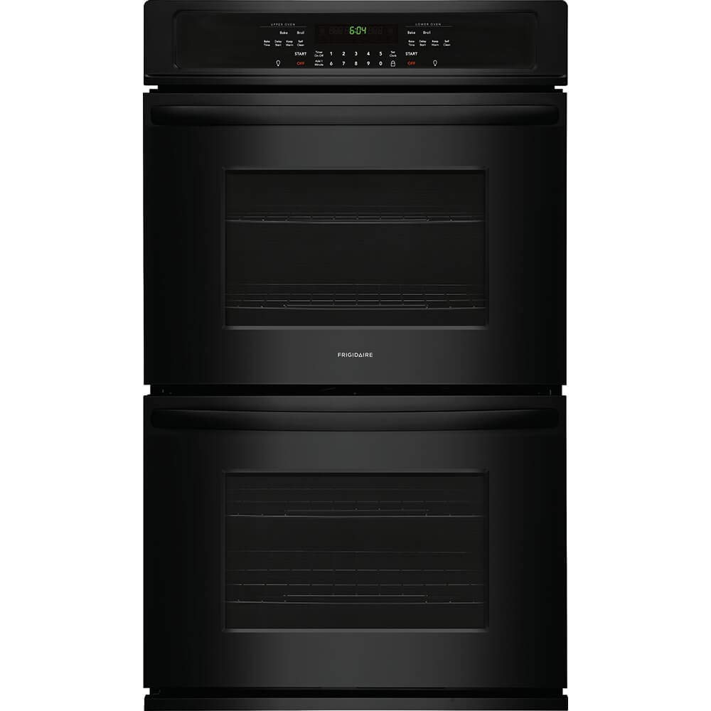 Frigidaire FFET2726TB 27 Inch 7.6 cu. ft. Total Capacity Electric Double Wall Oven with 2 Oven Racks, in Black by FRIGIDAIRE