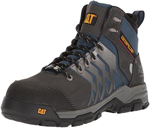 (Caterpillar Men's Induction Waterproof Nano Toe Industrial Boot, Dark Denim, 10.5 Wide US)