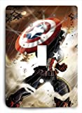 Captain America v Single Light Switch Cover