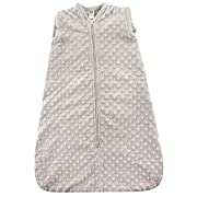Hudson Baby Baby Infant Wearable Safe Cozy Warm Sleeping Bag, Gray Dotted Mink Plush, 0-6 Months