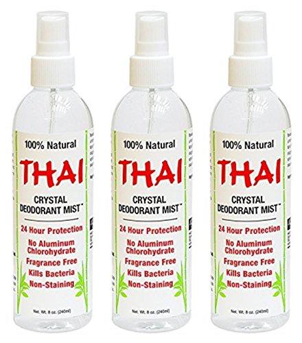 - Thai Deodorant Stone Thai Crystal Mist Pump, 8 Fluid Ounce (Pack Of 3)