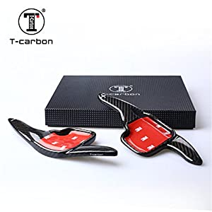Genuine Pure Carbon Fiber Car Steering Wheel Shift Paddle Blade Shifter Extension For BMW 2 Series 2 Series Estate Car 3 Series 4 Series 5 Series GT 6 Series 7 Series X1 X4 Z4 - Black