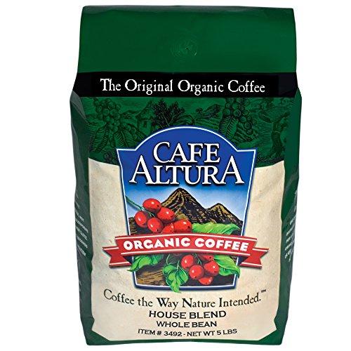 5 Lb Cafe - Cafe Altura Whole Bean Organic Coffee, House Blend, 5 Pound