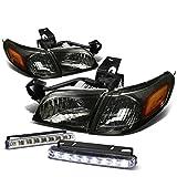 99 trans am tail light lens - Venture/Silhouette 4pcs Smoke Lens Amber Corner Headlight+DRL 8 LED Fog Light
