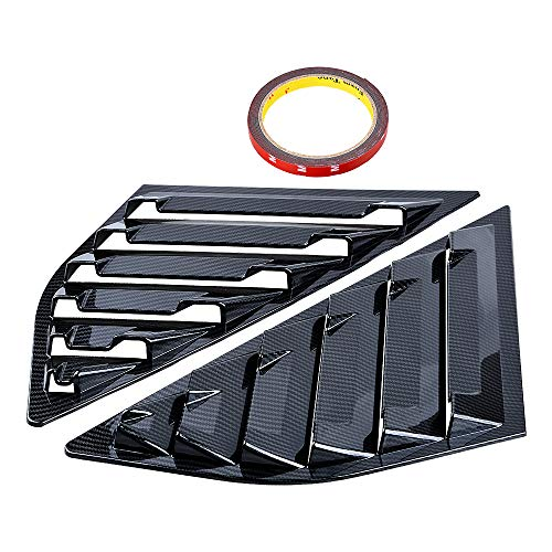 Astra DepotS Compatible with Ford Focus SE SEL ST RS MK3 Hatchback 2PCS Rear Window Quarter Side Vent Window Louvers Scoop Cover (Carbon Fiber Painted)