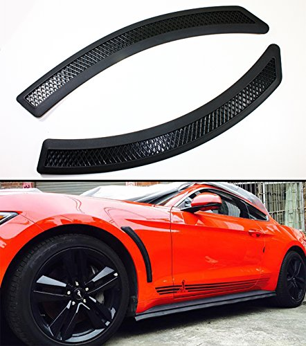 (Cuztom Tuning Fits for 2015-2017 Ford Mustang Black Mesh Polyurethane Front Fender Side Vent Cover)